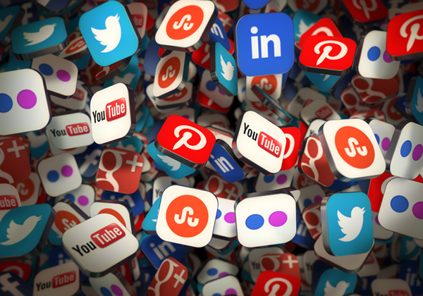 Social Media Networks icons and badges