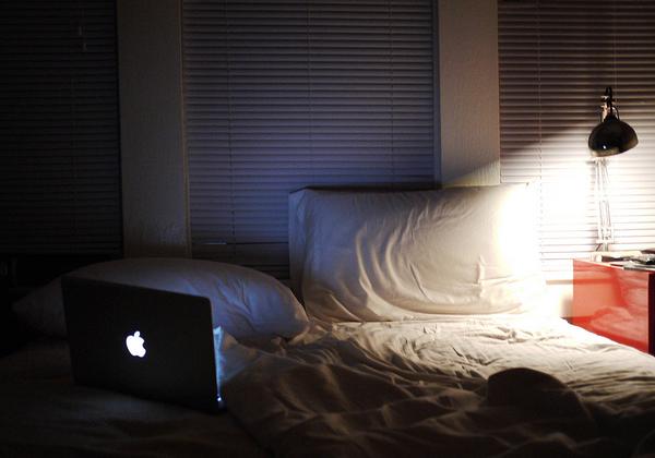 Working nights on MacBook in bed