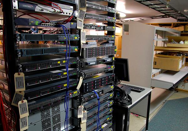 Website hosting Linux server room