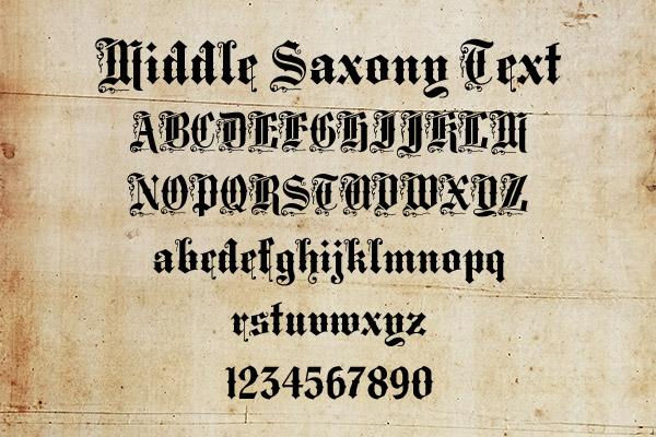 Middle Saxony Text