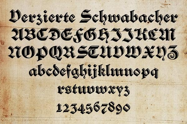 Verzierte Schwabach