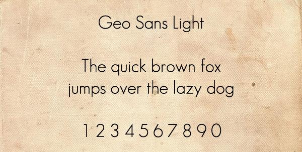 Geo Sans Light