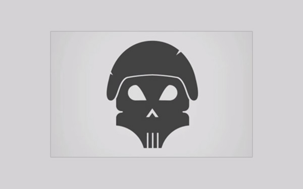 Vector Skull Logo Design in Photoshop