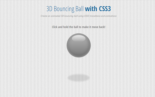 3D Bouncing Ball with CSS3