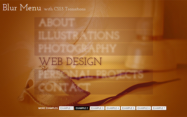 Blur Menu with CSS3 Transitions