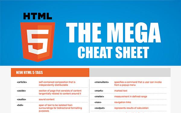 HTML5 Mega Cheat Sheet
