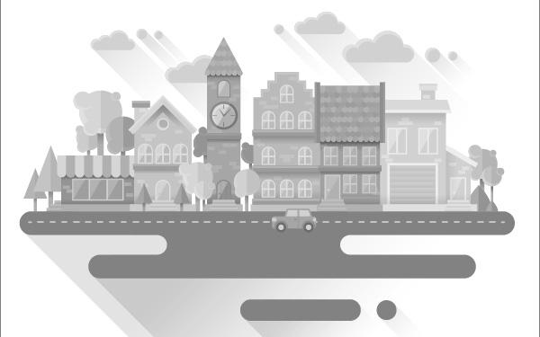 Create a Flat Grayscale Cityscape in Illustrator