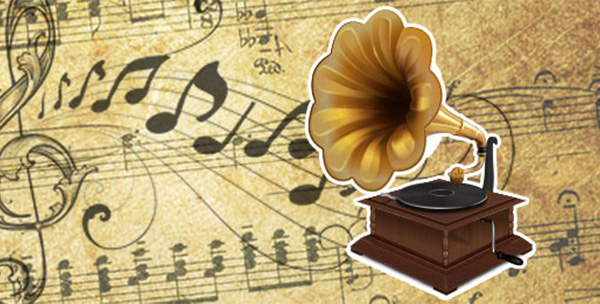Realistic Vintage Gramophone in Illustrator