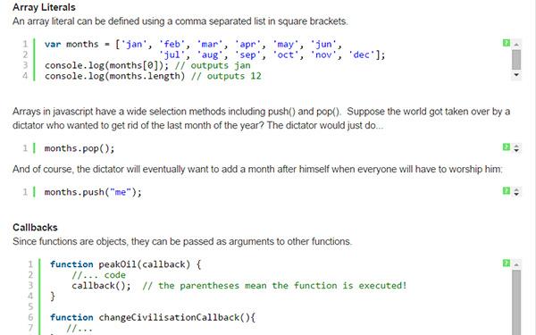 JavaScript Language A-Z Cheat Sheet