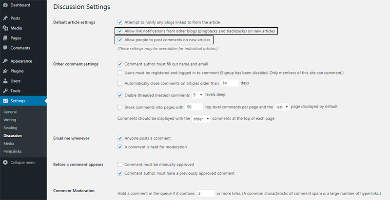 How to Disable Comments in WordPress 1