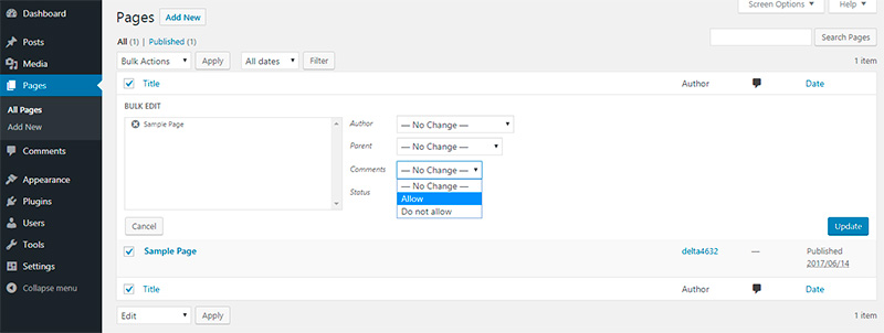 How to Disable Comments in WordPress 5