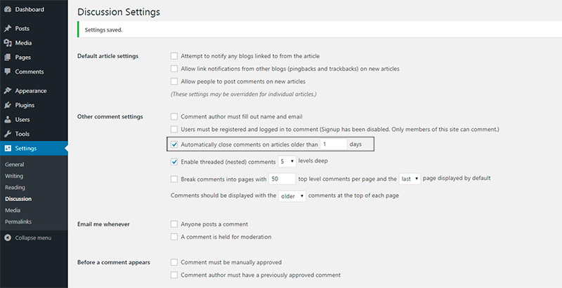 How to Disable Comments in WordPress 9
